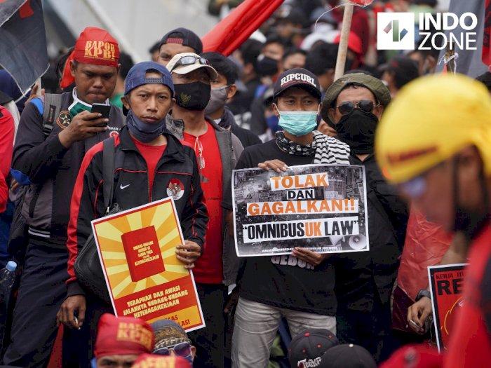 Polda Metro Amankan Puluhan Orang saat Aksi Demo di DPR Kemarin
