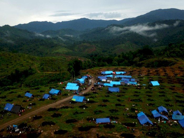 FOTO: Pantauan dari Udara Tenda Pengungsi Korban Banjir Bandang Masamba