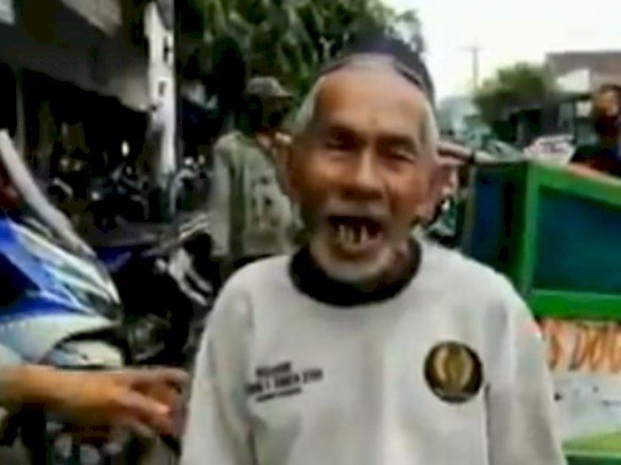 Dihukum Nyanyi Garuda Pancasila karena Tak Pakai Masker, Kakek Ini Malah Nyanyi Mars PNI