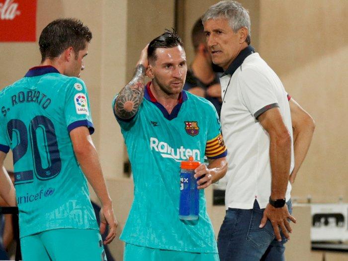 Setien Klaim Hubungannya dengan Messi Baik-Baik Saja