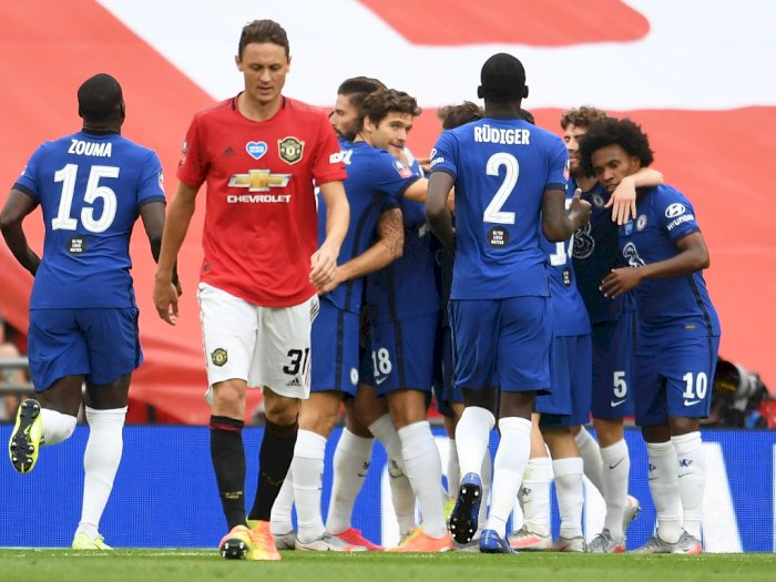 Manchester United VS Chelsea: The Blues Tantang Arsenal di Final Piala FA
