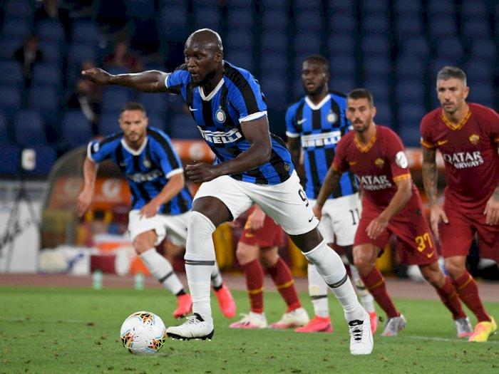 FOTO: Lukaku Selamatkan Inter Milan dari Kekalahan di Kandang AS Roma