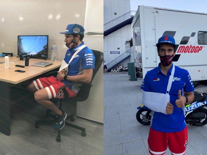 Alami Cedera Bahu, Alex Rins Absen pada MotoGP Jerez 2020