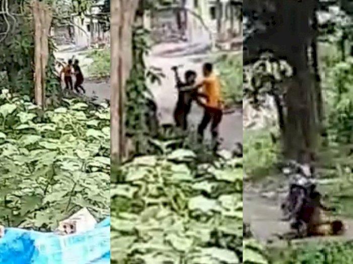Mencekam, Video Detik-detik Pemuda Tikam Teman Sendiri hingga Tewas Akibat Diejek Duda