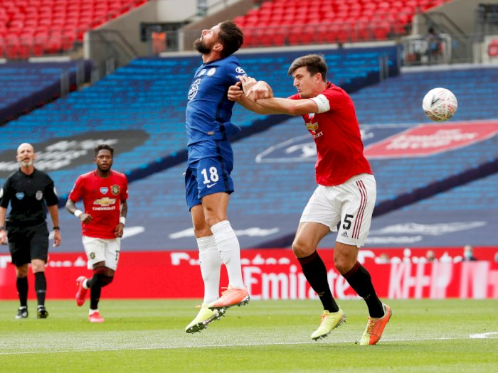 Manchester United VS Chelsea: The Blues Unggul di Babak Pertama