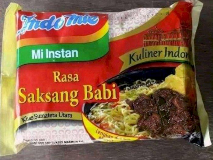 Viral Foto Indomie Rasa Saksang Babi Khas Sumatera Utara, Netizen Pro Kontra