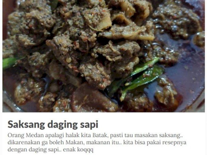 Tak Hanya Saksang Daging Babi, Saksang Daging Sapi Juga Ada, Ini Resepnya