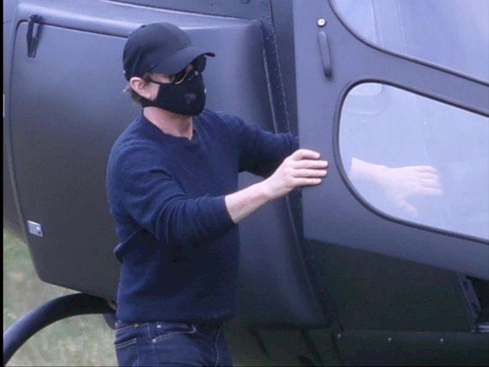 Sultan! Tom Cruise Menjajal Helikopter untuk Hadiri Jamuan Makan Siang