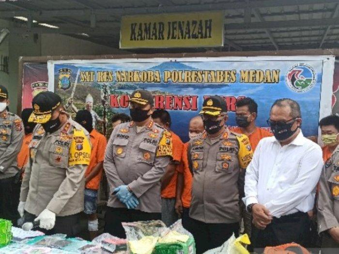 Polisi Medan Bongkar Sindikat Baru Peredaran  Narkotika Aceh-Medan-Surabaya