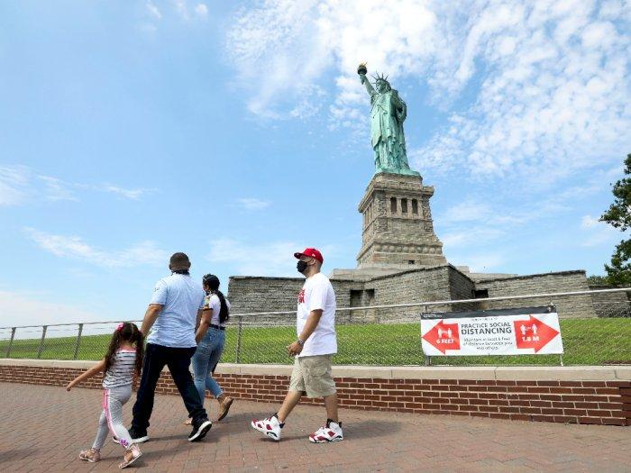 FOTO: Pulau Liberty di New York Kembali Dibuka