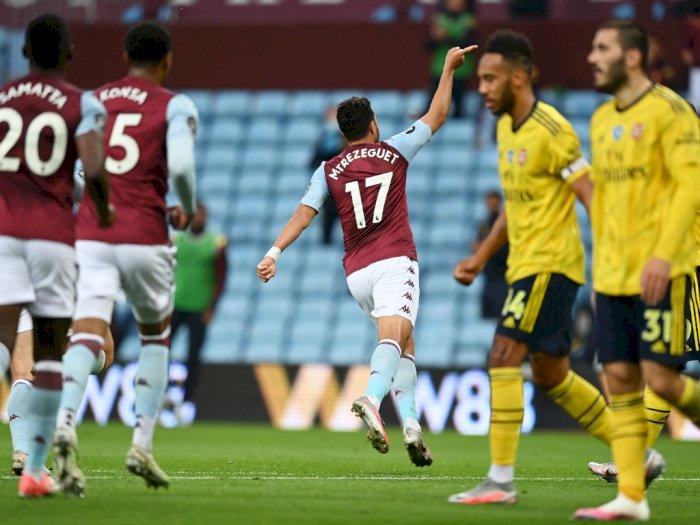 Aston Viilla VS Arsenal 1-0 di Babak Pertama