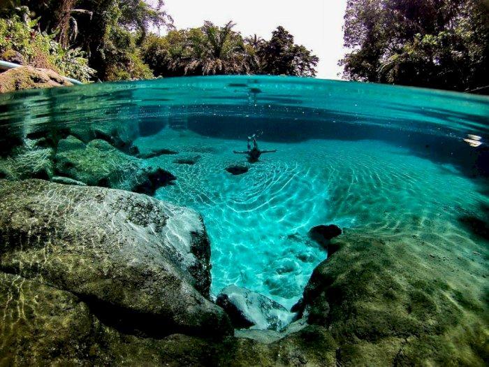 FOTO: Potret Jernihnya Air Umbul Manigom di  Simalungun