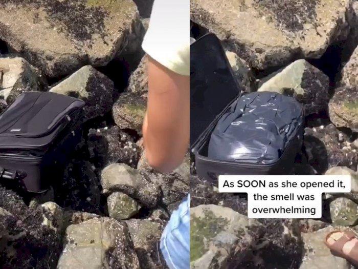 Viral Remaja Temukan Mayat di Dalam Koper saat Lagi Bikin Video TikTok, Sempat Dikira Uang