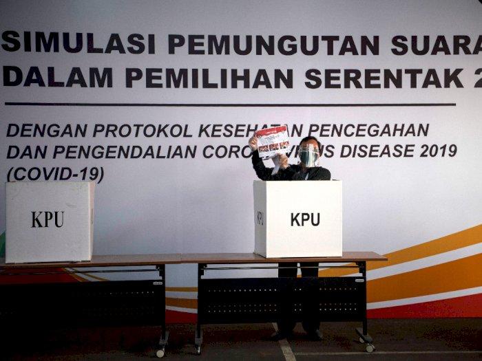 FOTO: KPU Gelar Simulasi Pilkada Serentak dengan Protokol Kesehatan