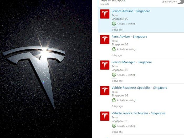 Tesla Buka Lowongan Kerja di Singapura, Buruan Lamar!