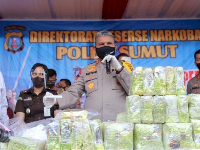 Polda Sumut Musnahkan 51,38 kg Sabu-sabu