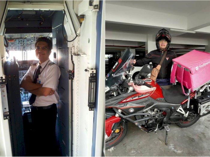 Corona Buat Pilot Ini Alih Profesi Jadi Pengantar Makanan, Padahal Dulu Bergaji Rp60 Juta