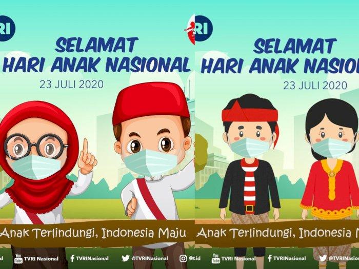 Dikritik Karena Islami, TVRI Langsung Ganti Ilustrasi Hari Anak Nasional