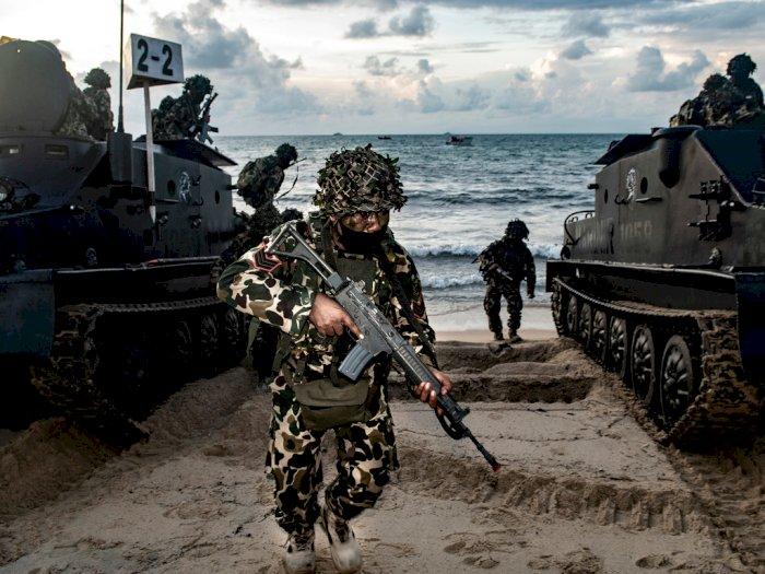 FOTO: Latihan Tugas Tempur TNI AL di Kepulauan Riau