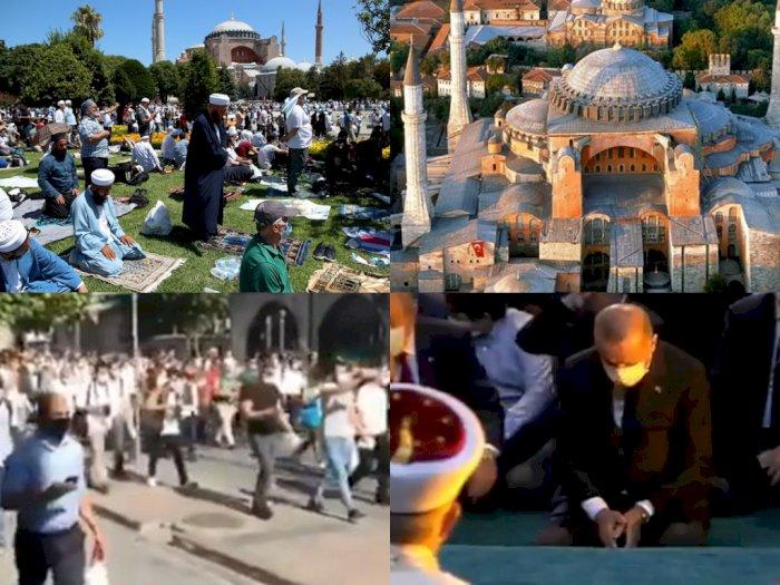 Salat Jumat Perdana Digelar setelah 86 Tahun, Hagia Sophia Turki Trending Topic