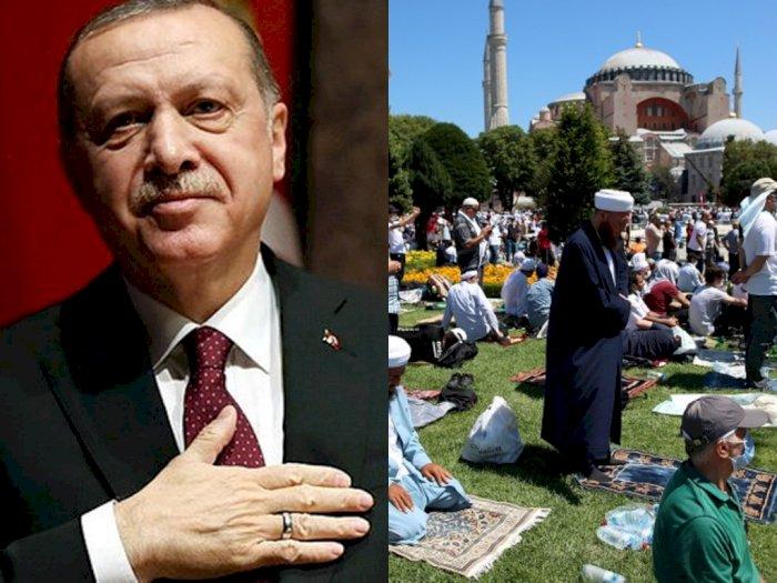 Hagia Sophia Gelar Salat Jumat Perdana, Presiden Erdogan: Kerinduan 86 Tahun Berakhir