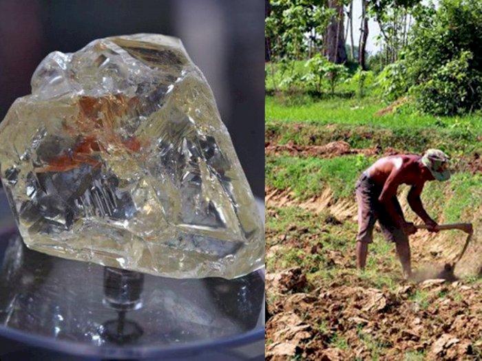 Mendadak Kaya, Petani Miskin Temukan Berlian Senilai Rp 976 Juta saat Menggali Tanah