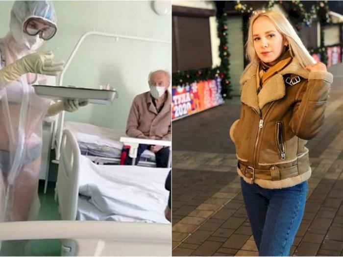 Usai Cicipi Dunia Model, Perawat Viral yang Pakai APD Menerawang Kini Jadi Presenter Cuaca