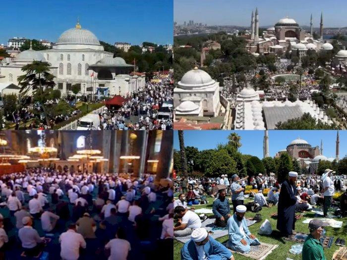 Hari Bersejarah, Tonton Live Streaming Salat Jumat Perdana di Masjid Hagia Sophia Turki