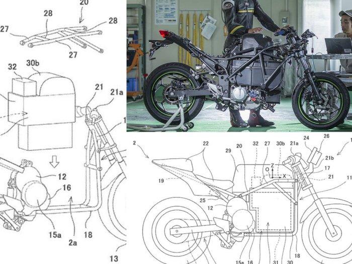 Makin Serius, Kawasaki Pamerkan Paten Desain Motor Listrik Terbarunya, Endeavour!