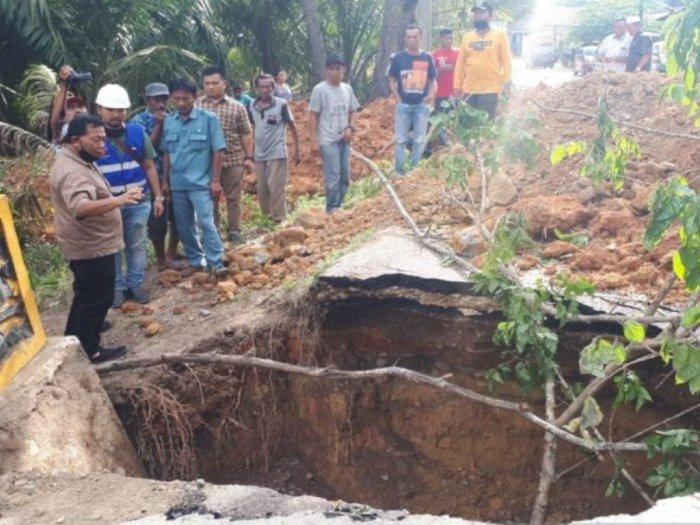Dua Jembatan di Madina yang Rusak Akibat Banjir Selesai Diperbaiki