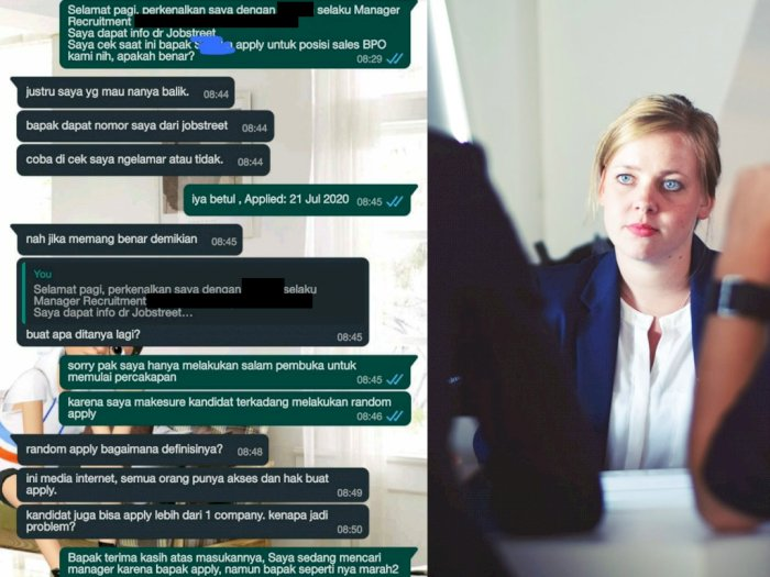 Viral Pelamar Kerja 'Ceramahi' HRD Sampai Marah-marah, Netizen: Lebih Galak yang Ngelamar