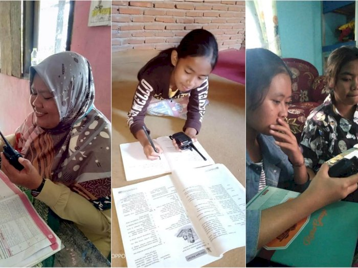Bukan Pakai Zoom, Guru dan Murid di Desa Ini Belajar Pakai Radio