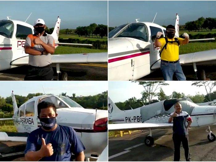 Wow, Beredar Video Para Camat Cilacap Dapat Jatah Fasilitas Pesawat Terbang, Cek Faktanya