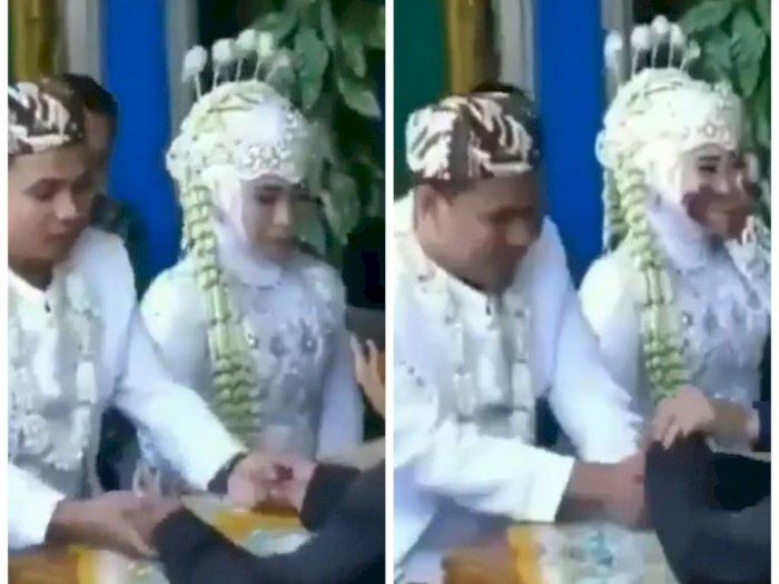 Momen Lucu Pernikahan, Pengantin Pria Ajak Penghulu Gambreng saat Ijab Kabul