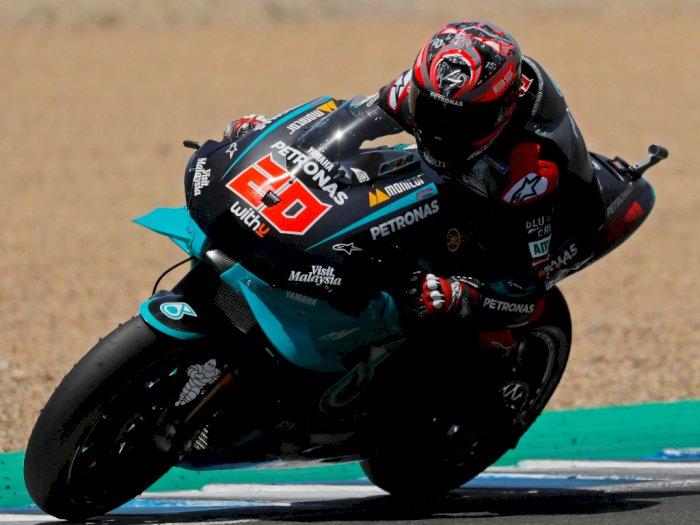 Fabio Quartararo Jadi Juara di MotoGP Andalusia, Rossi Akhirnya Naik Podium