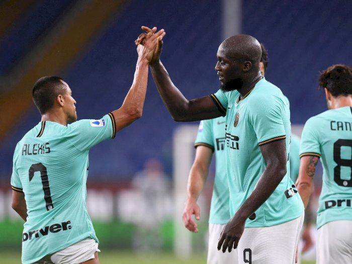 FOTO: Menang 3-0 di Kandang Genoa, Inter Milan Naik ke Peringkat Kedua