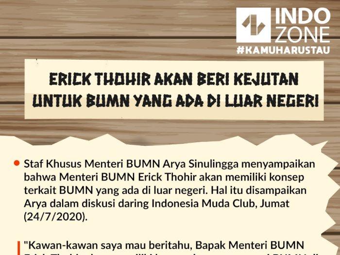 Erick Thohir Akan Beri Kejutan untuk BUMN yang Ada di Luar Negeri