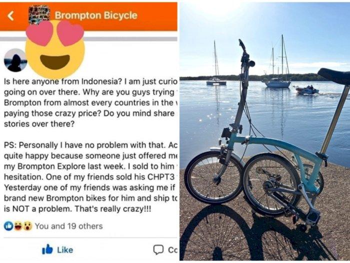 Bule Ini Pun Heran, Warga +62 Borong Sepeda Brompton Sampai Toko Sepeda di Jerman Tutup