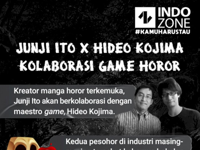 Junji Ito x Hideo Kojima Kolaborasi Game Horor