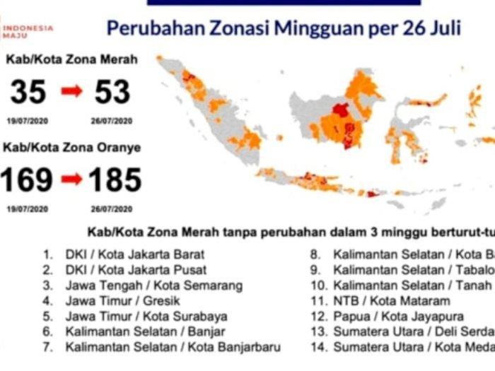 Berikut 14 Daerah Konsisten Zona Merah Corona, Salah Satunya Medan