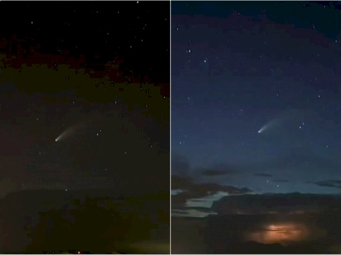 Penampakan Komet Neowise di Filipina yang Bikin Takjub, Indah di Antara Bintang-bintang