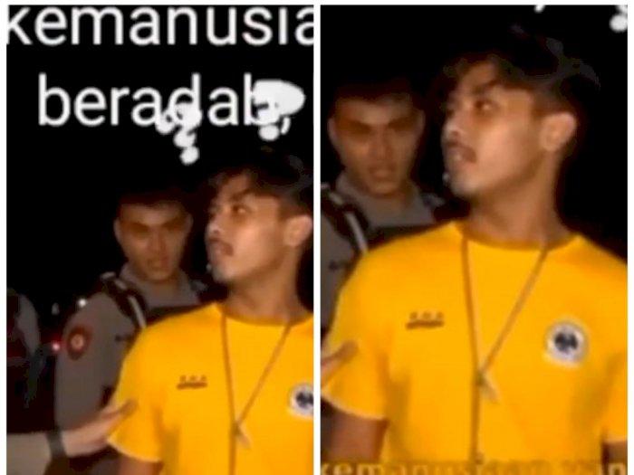 """Diminta Polisi Sebutkan Pancasila, Pemuda Ini Selalu Bilang """"Kemanusiaan yang Beradab"""""""