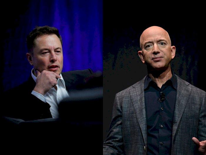 Elon Musk Sebut Jeff Bezos Terlalu Tua Serta Lamban!