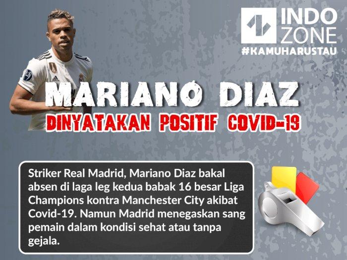 Mariano Diaz Dinyatakan Positif Covid-19