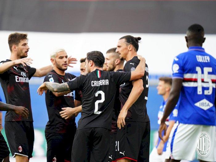 Sampdoria VS AC Milan: Rossoneri Unggul di Babak I