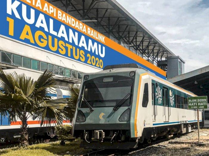 Hore! Kereta Api Bandara Kualanamu Medan Mulai Beroperasi 1 Agustus