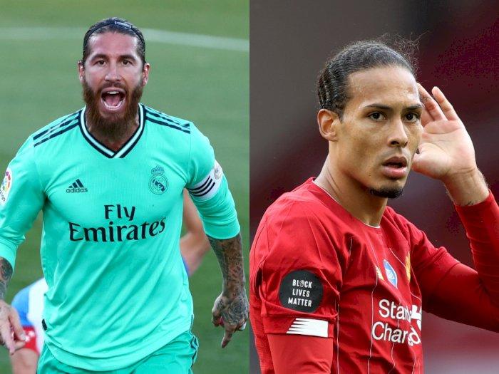 Sergio Ramos dan Virgil Van Dijk Diklaim Sebagai Bek Tengah Terbaik Dunia