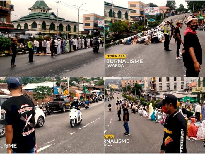 Bikin Terharu, Para Pemuda Nasrani Jaga Umat Muslim Laksanakan Salat Idul Adha di Ambon