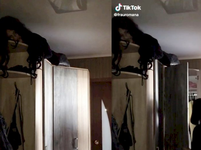 Ada Penampakan di Atas Lemari, Videonya Bikin Parno