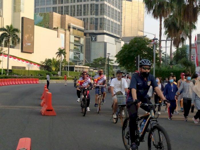 Car Free Day Belum Diberlakukan Lagi, Warga Tetap Ramai Berolahraga di Sudirman-Thamrin